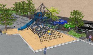 Module de jeux du futur parc-école de l'école Saint-Charles