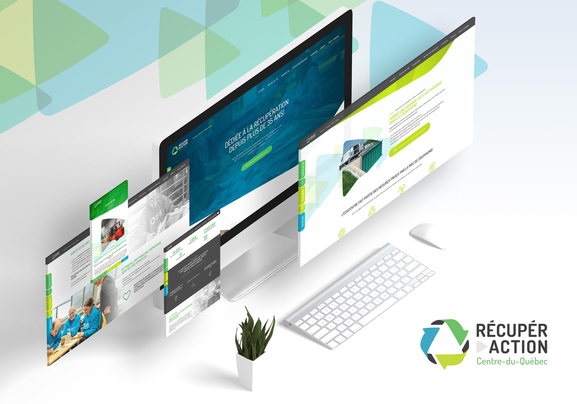 Fagnan relations publiques a réalisé le nouveau site internet responsive et l'optimisation SEO de Récupéraction Centre-du-Québec