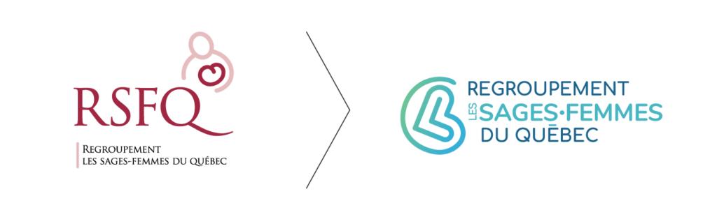 Explication de la transition du logo RSFQ par Fagnan relations publiques