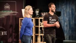 Dany Lefebvre et Marie-Ève Parenteau de La Feuille Verte aux Dragons - Fagnan relations publiques Drummondville