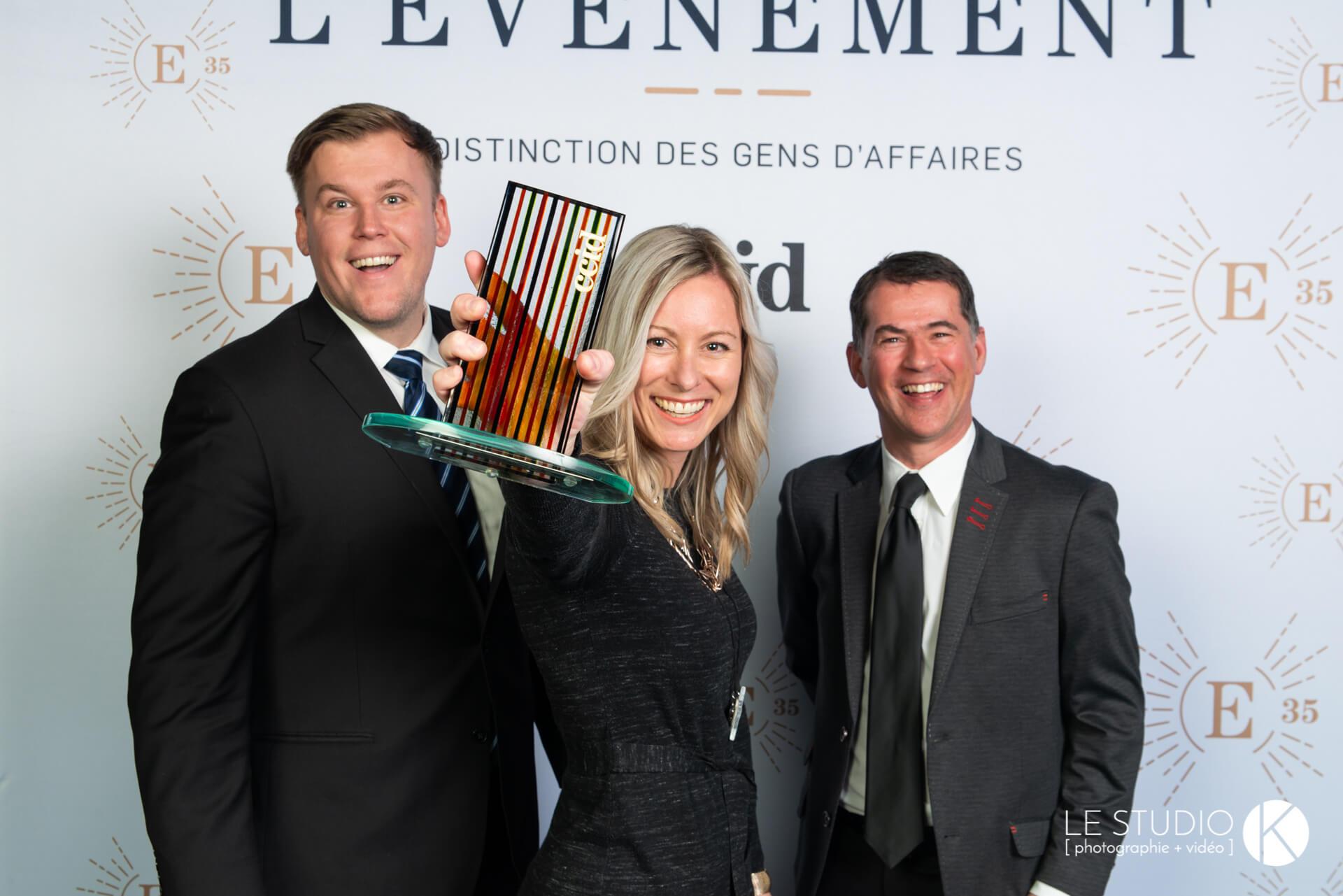 Fagnan Relations publiques remporte un Napoléon au Gala Entreprendre de la CCID