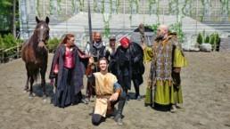 Spectacle d'art équestre Merlin, la légende du Roi Arthur des productions Apzara - Fagnan relations publiques Drummondville