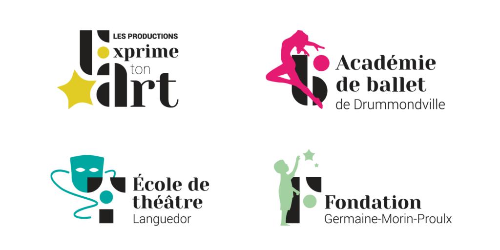 Dévoilement des nouveaux logotypes de l'Académie de ballet de drummondville et des autres écoles