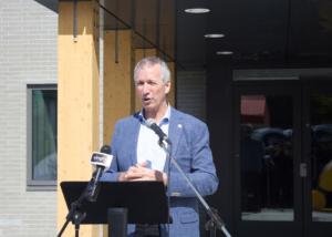 Député de Johnson André Lamontagne inauguration Centre des loisirs Saint-Germain