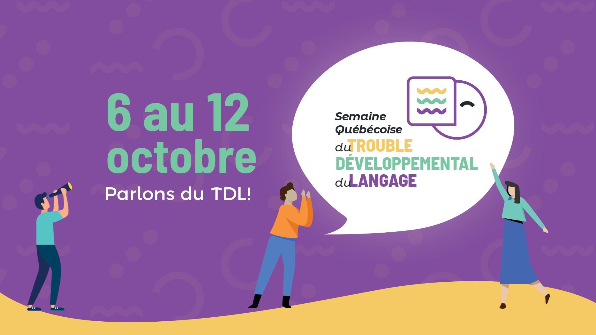 Semaine québécoise du trouble développemental du langage