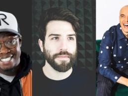Les ambassadeurs À GO, on lit! Kevin Raphaël, Yannick De Martino et Rachid Badouri