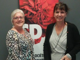 Diane Martel et Marie-Josée Boucher de la SC de la sclérose en plaques Centre-du-Québec