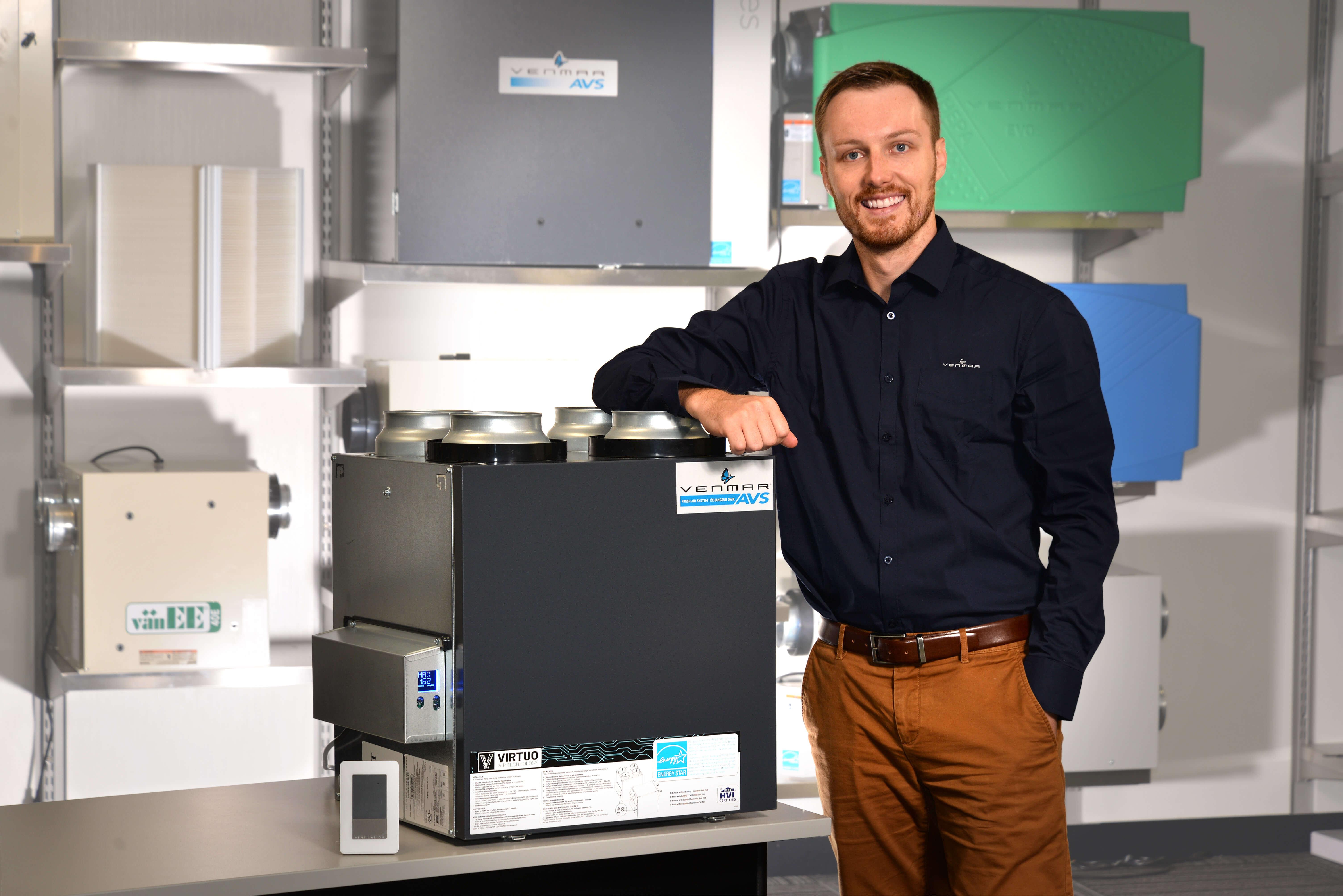 Venmar Ventilation Patrick Beloin échangeur d'air intelligence artificielle