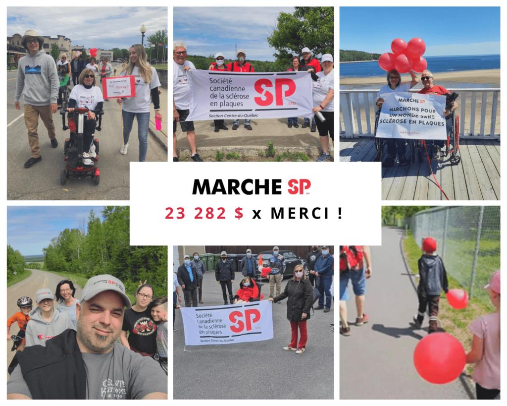 Marche SP 2021 sclérose en plaques Centre-du-Québec