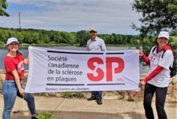 Carolynn Labbé, Sébastien Schneeberger et Marie-Josée Boucher Marche SP Centre-du-Québec
